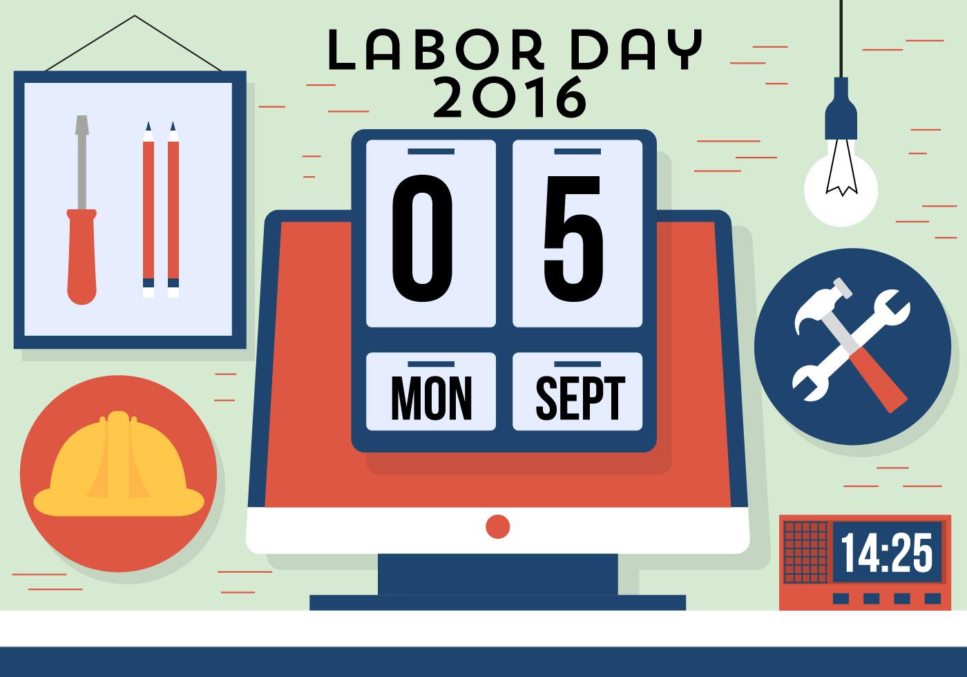Free Labor Day Vector