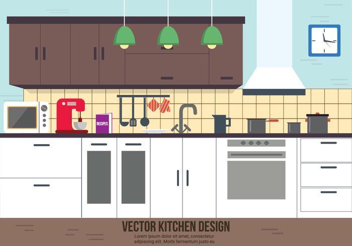 Kitchen Vector Design Art Stock Graphics