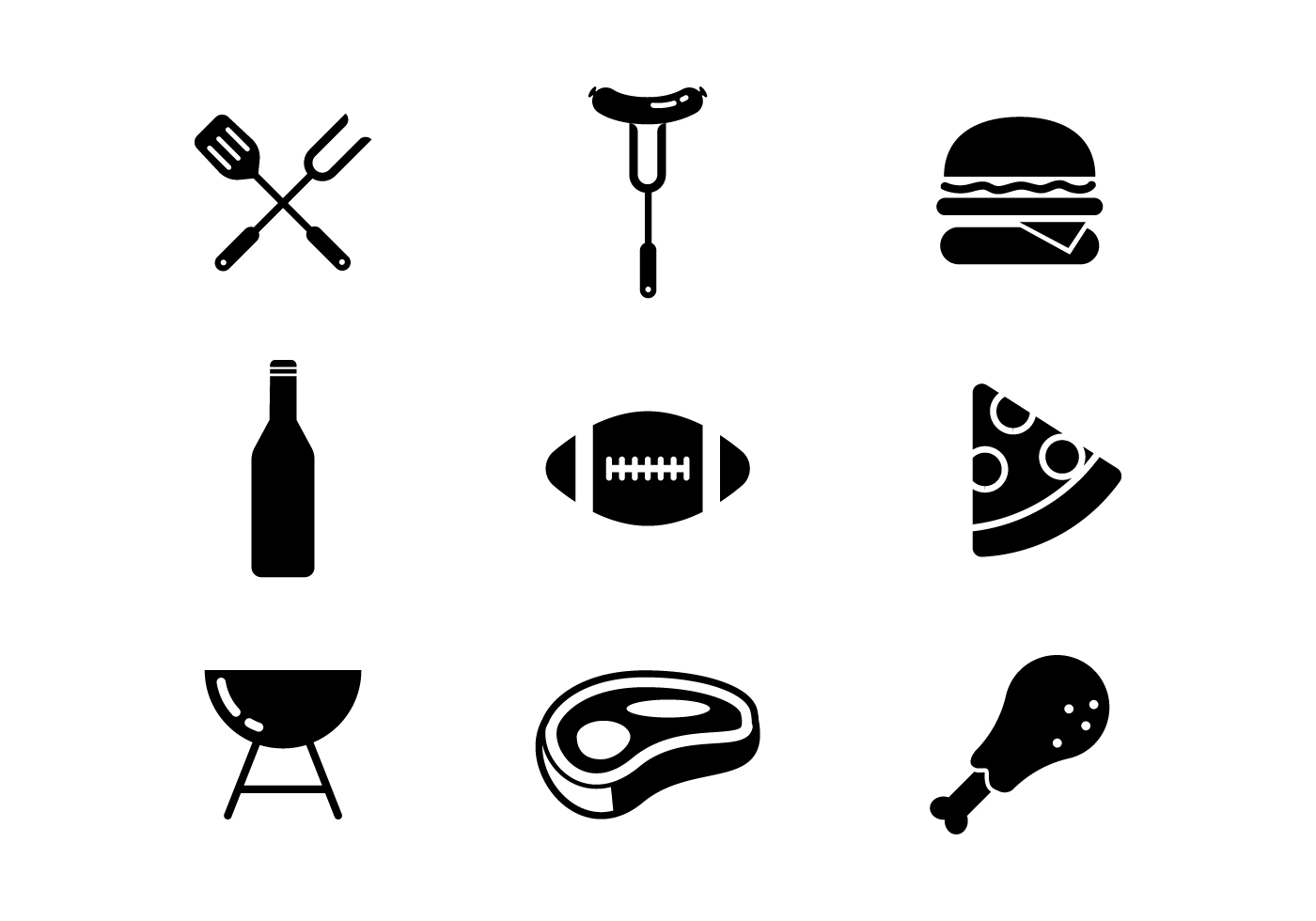 Free Tailgating Feast Icons Vector