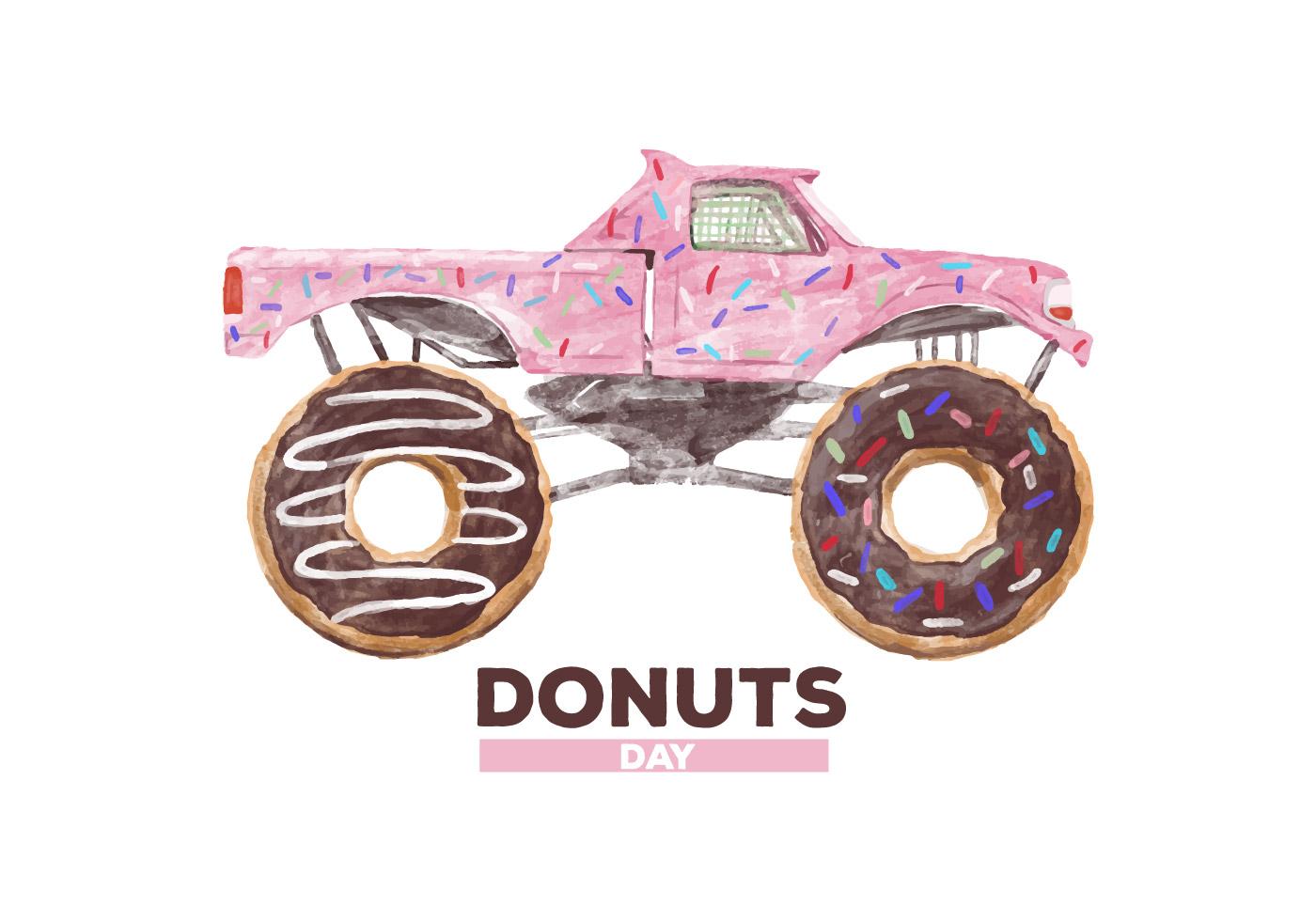 Free Donuts Watercolor Vector Download Free Vectors