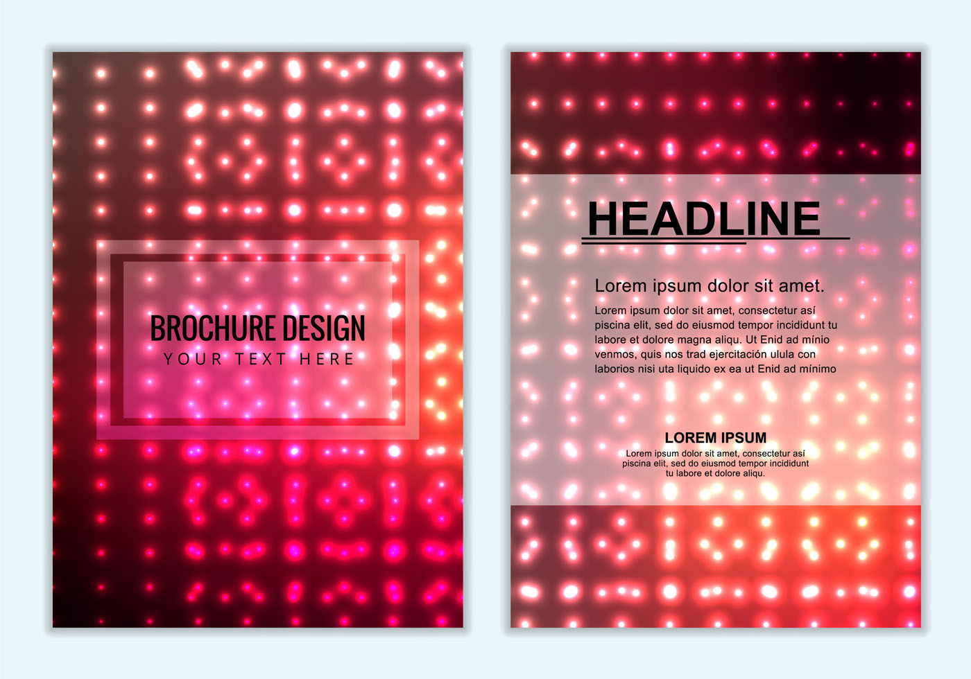 Free Vector Colorful Brochure Background Download Free Vector Art Stock Graphics Amp Images