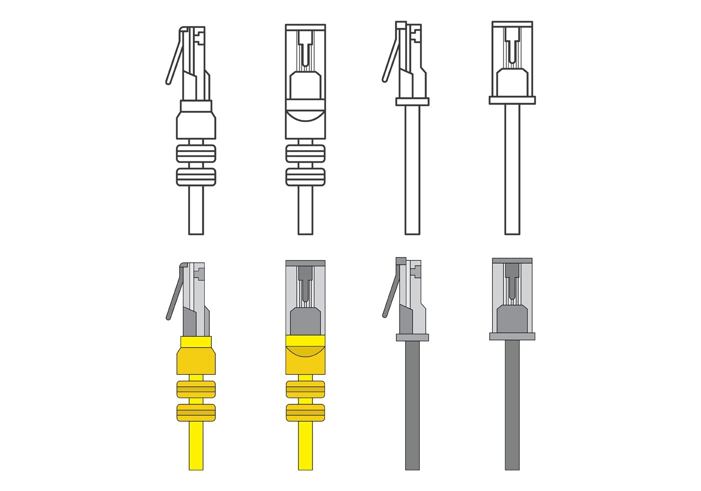 Set Of Rj45 Vector