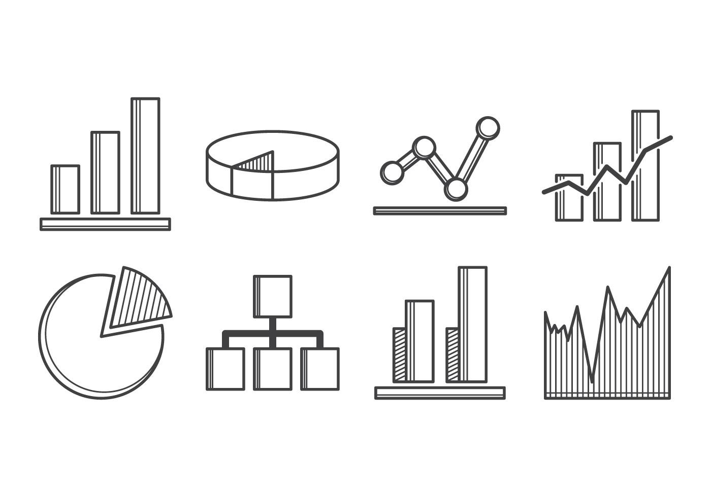 Freier Diagramm Symbol Vektor