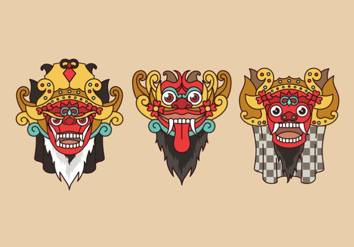 Barong Bali Indonesian Culture Vector Download Free Vectors Clipart Graphics Vector Art