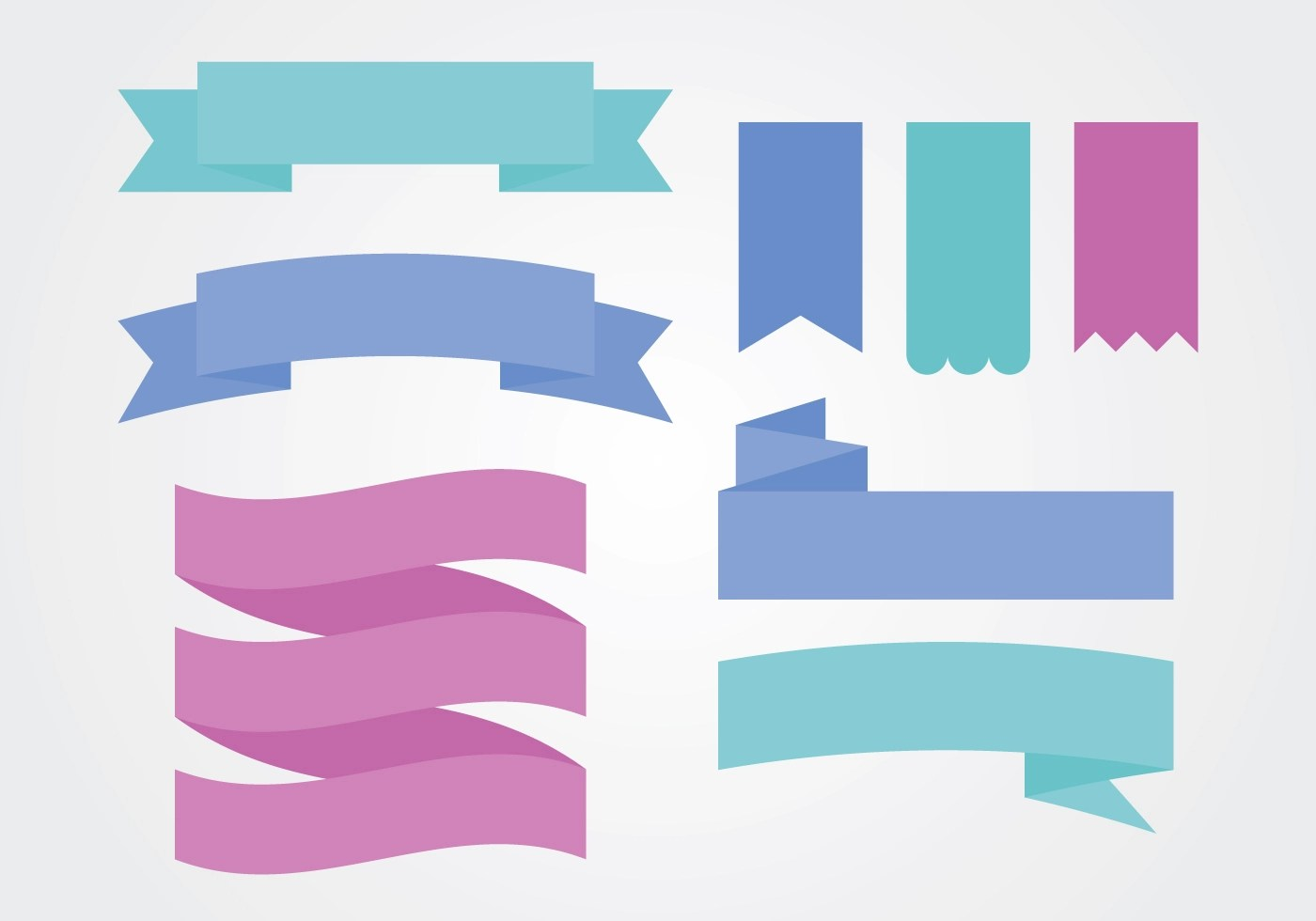 Flat Colorful Ribbon Sash Banner Vectors Download Free