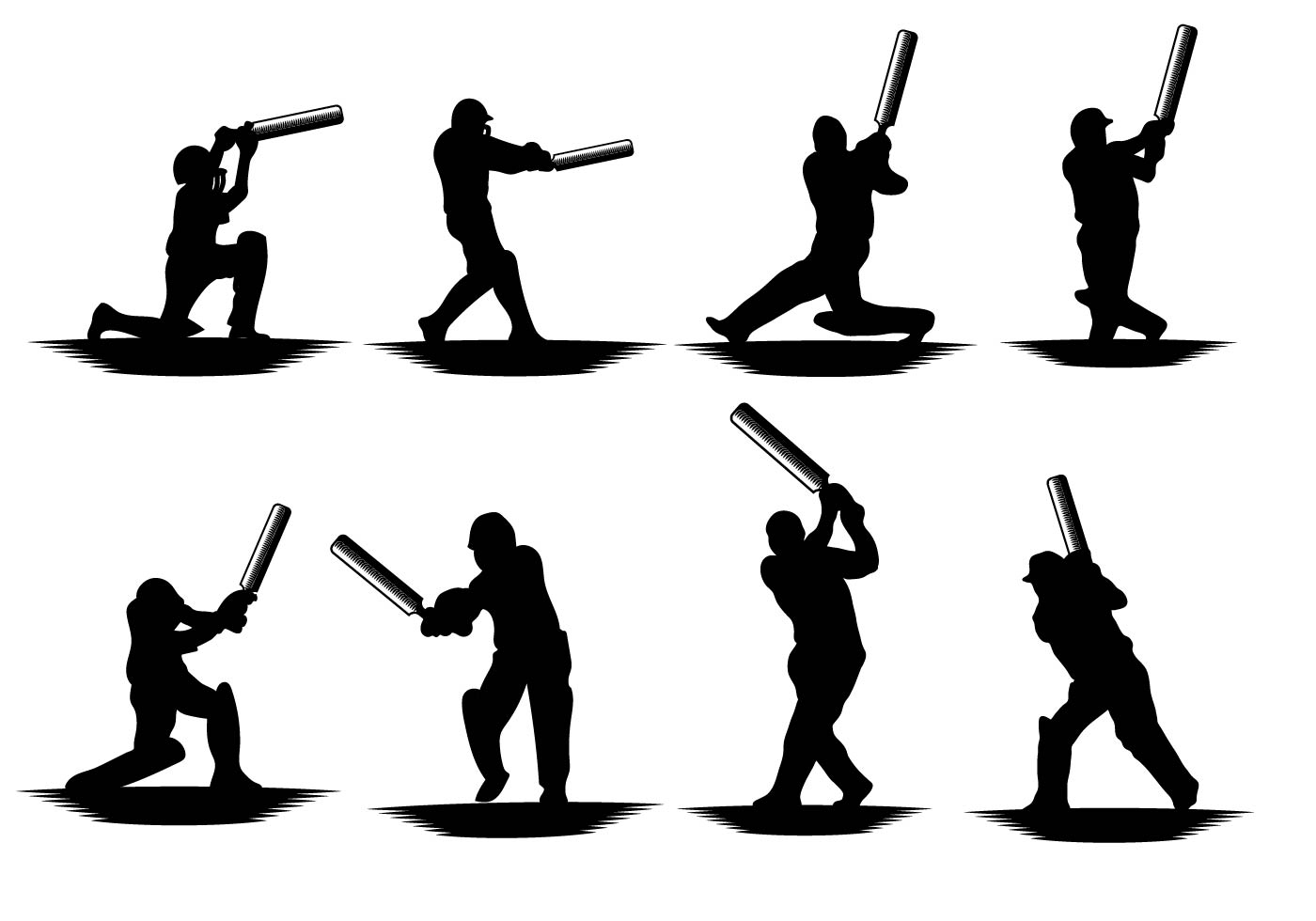 Free Cricket Player Vector