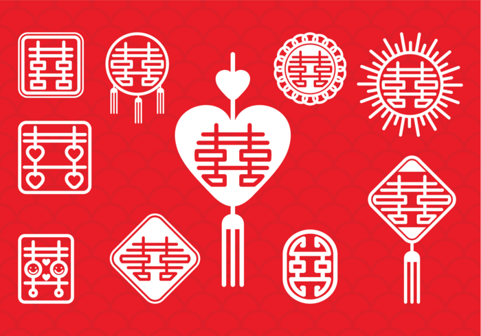 Download Chinese Wedding Symbol - Download Free Vectors, Clipart ...