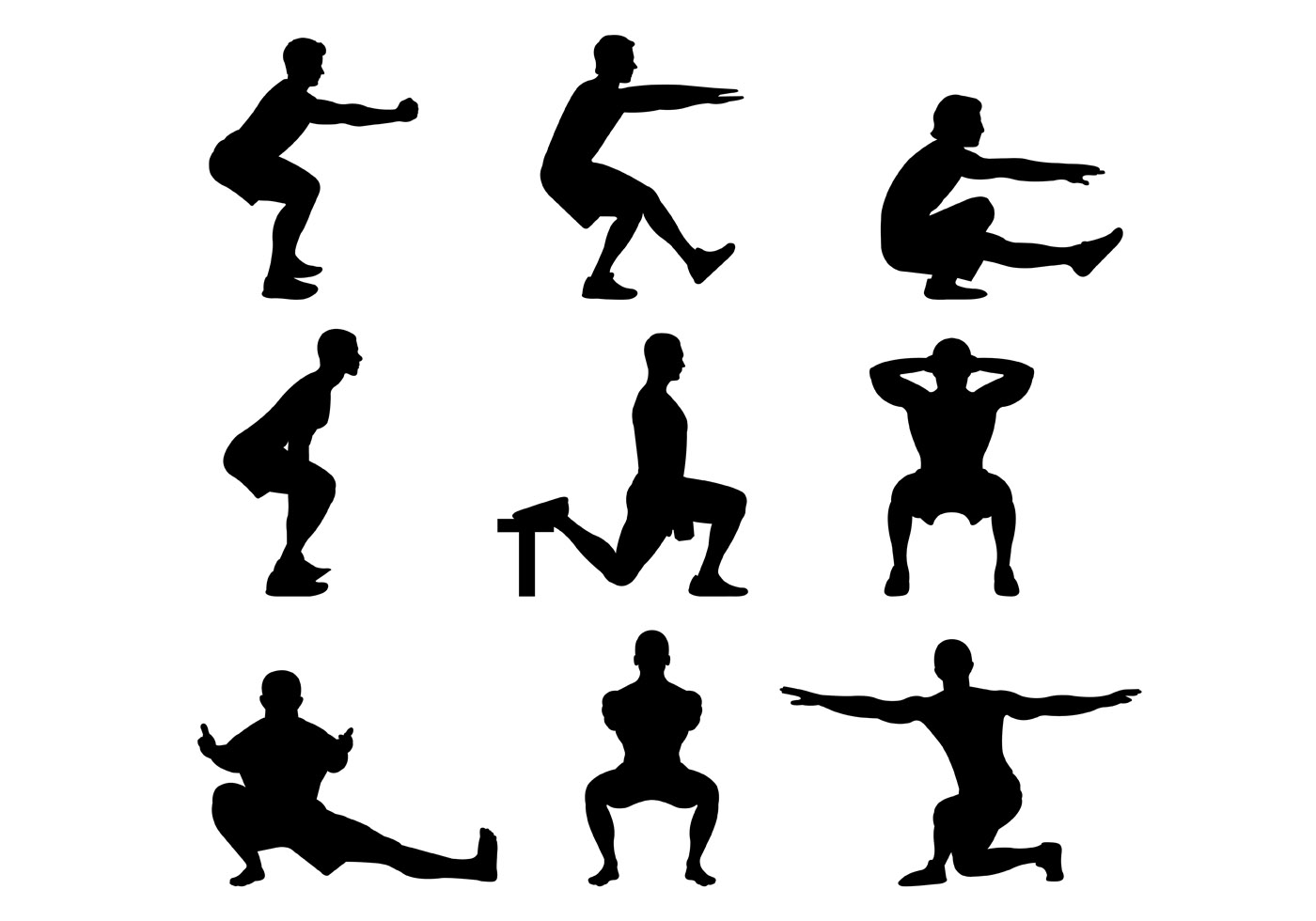 Silhouette Of Basic Squat