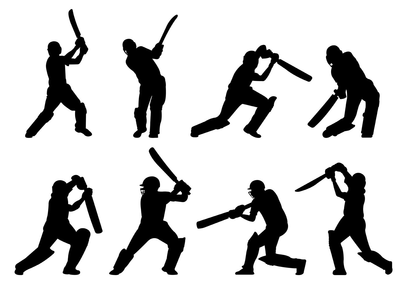 Cricket Player Free Vector Art
