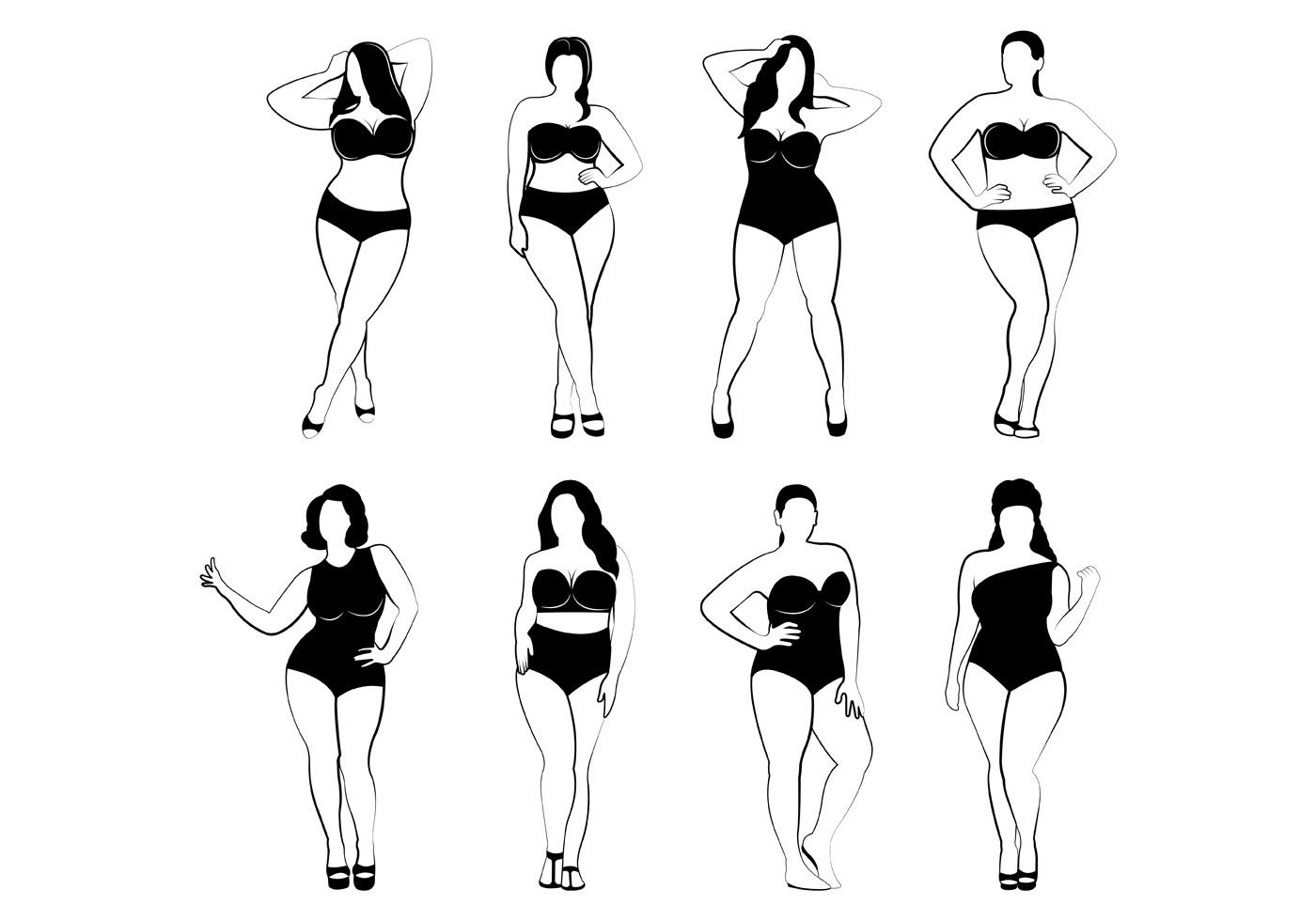Plus Size Women Vectors