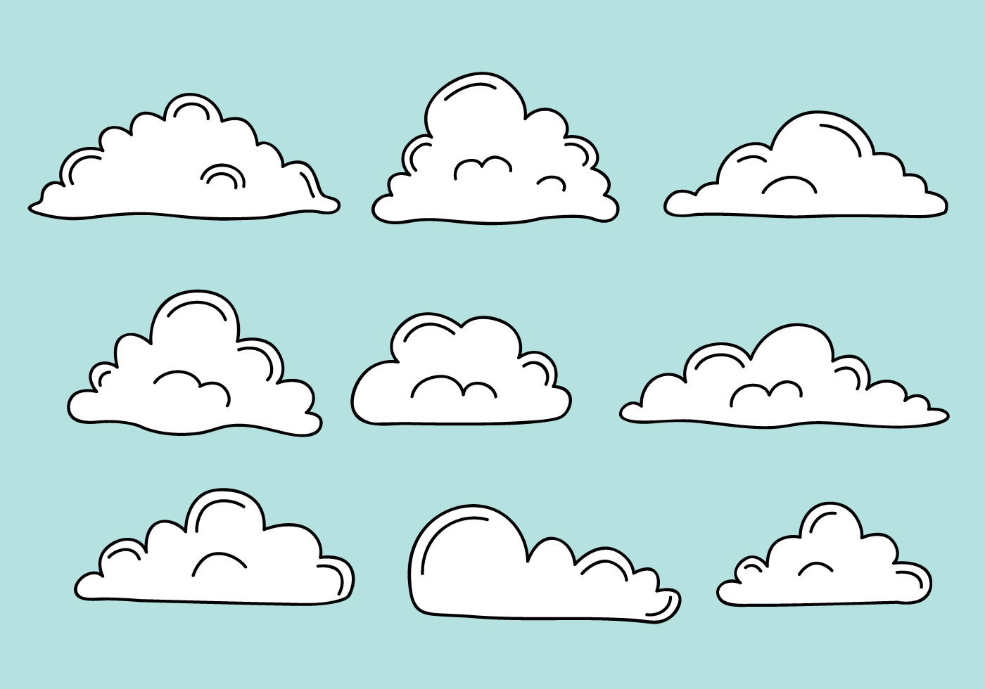 Free Clouds Vector Download Free Vector Art Stock