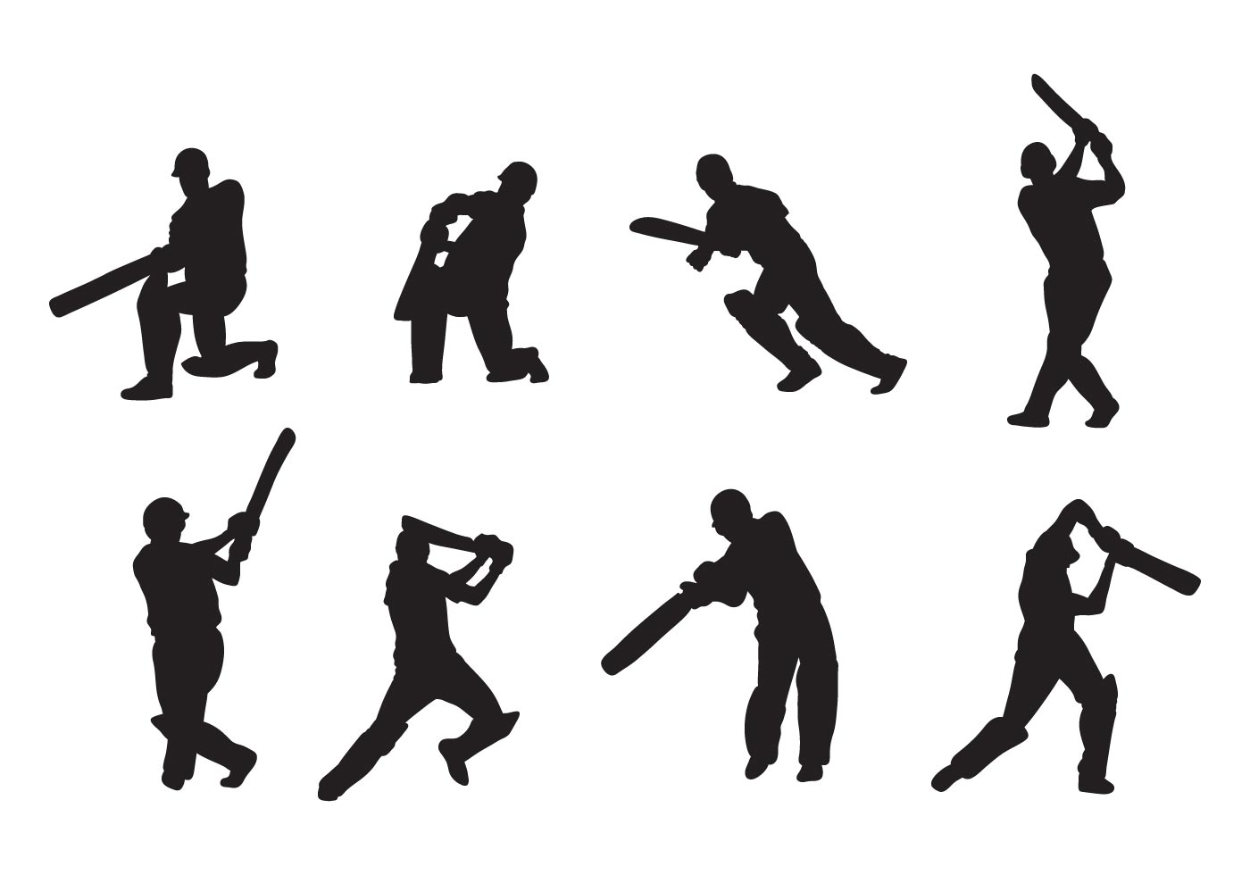 Cricket Player Vectors
