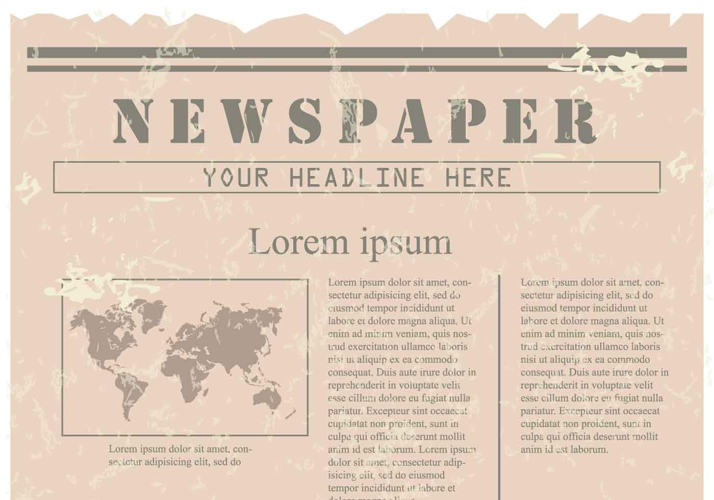 Vintage Old Newspaper Background