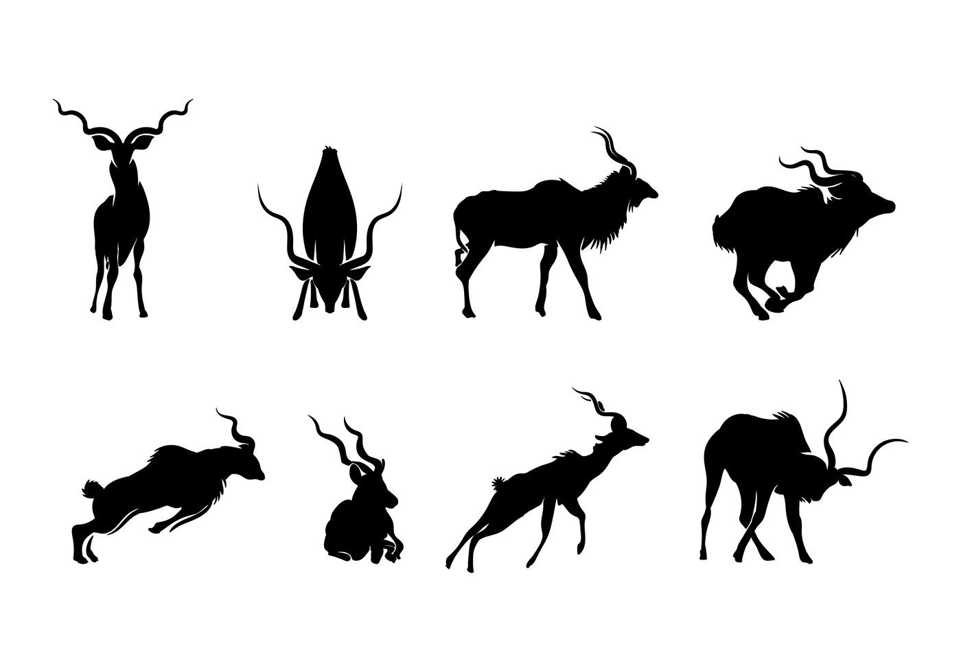 Kudu Silhouette Vector