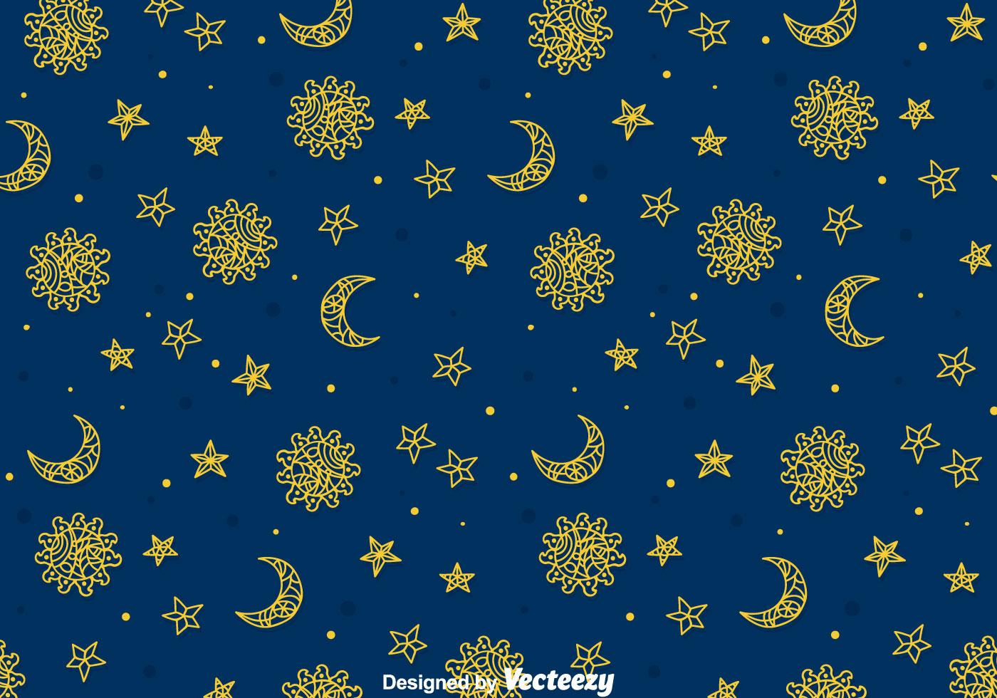 Sun Moon Stars Free Vector Art