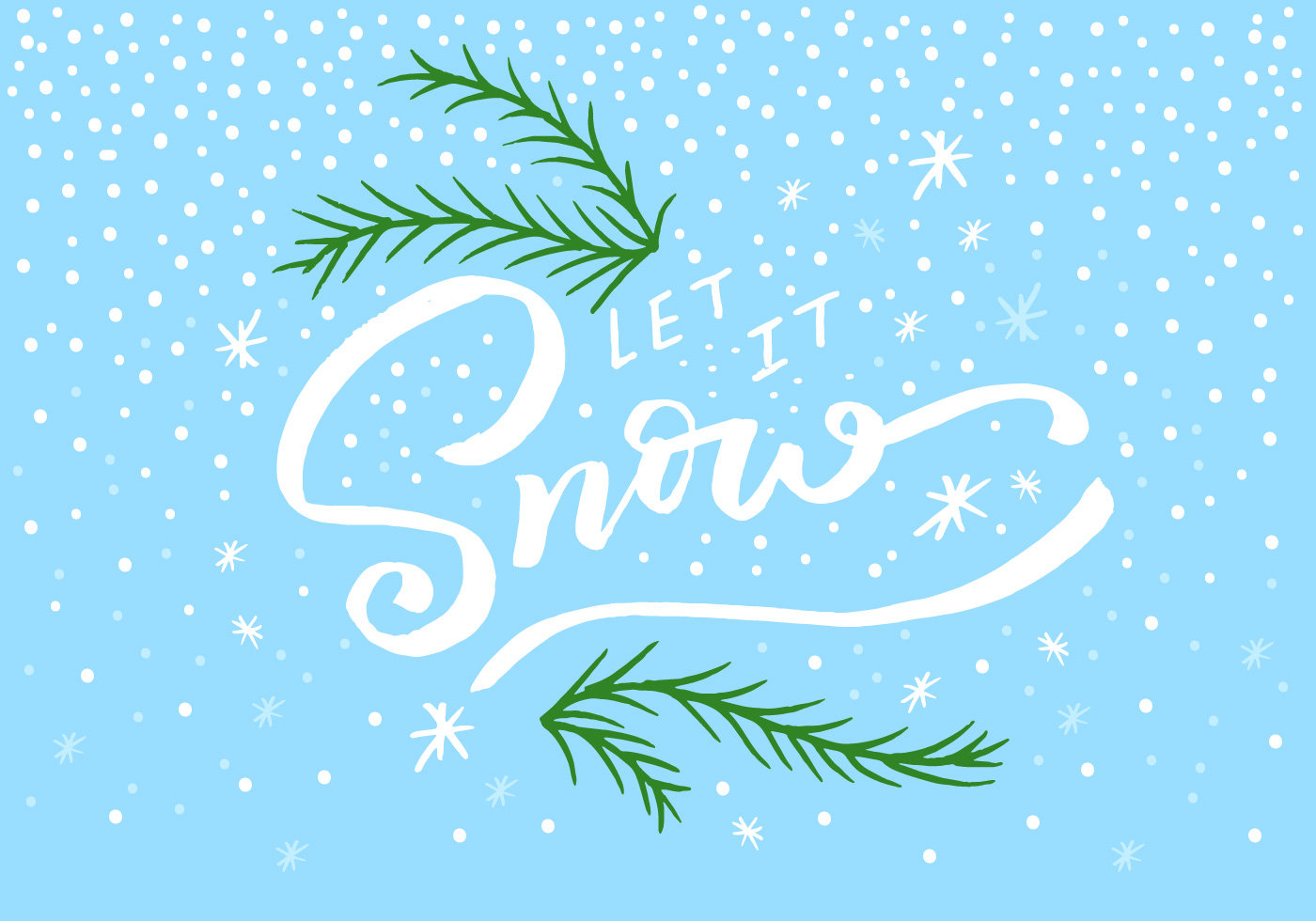 Let It Snow Lettering Download Free Vector Art Stock
