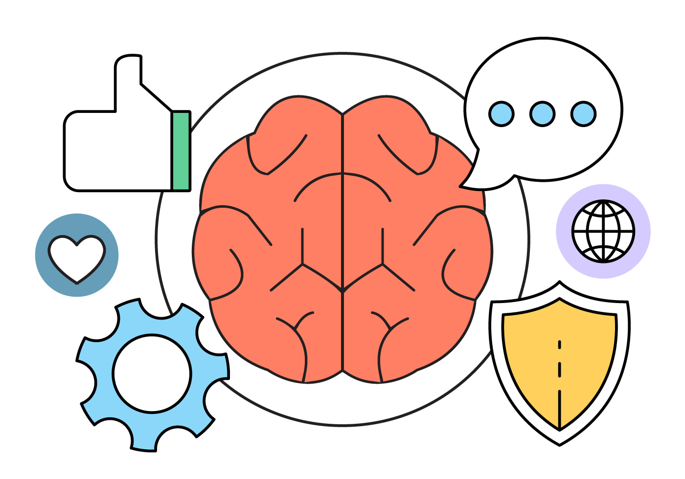 Intelligence And Brain Vector Icons Download Free Vector