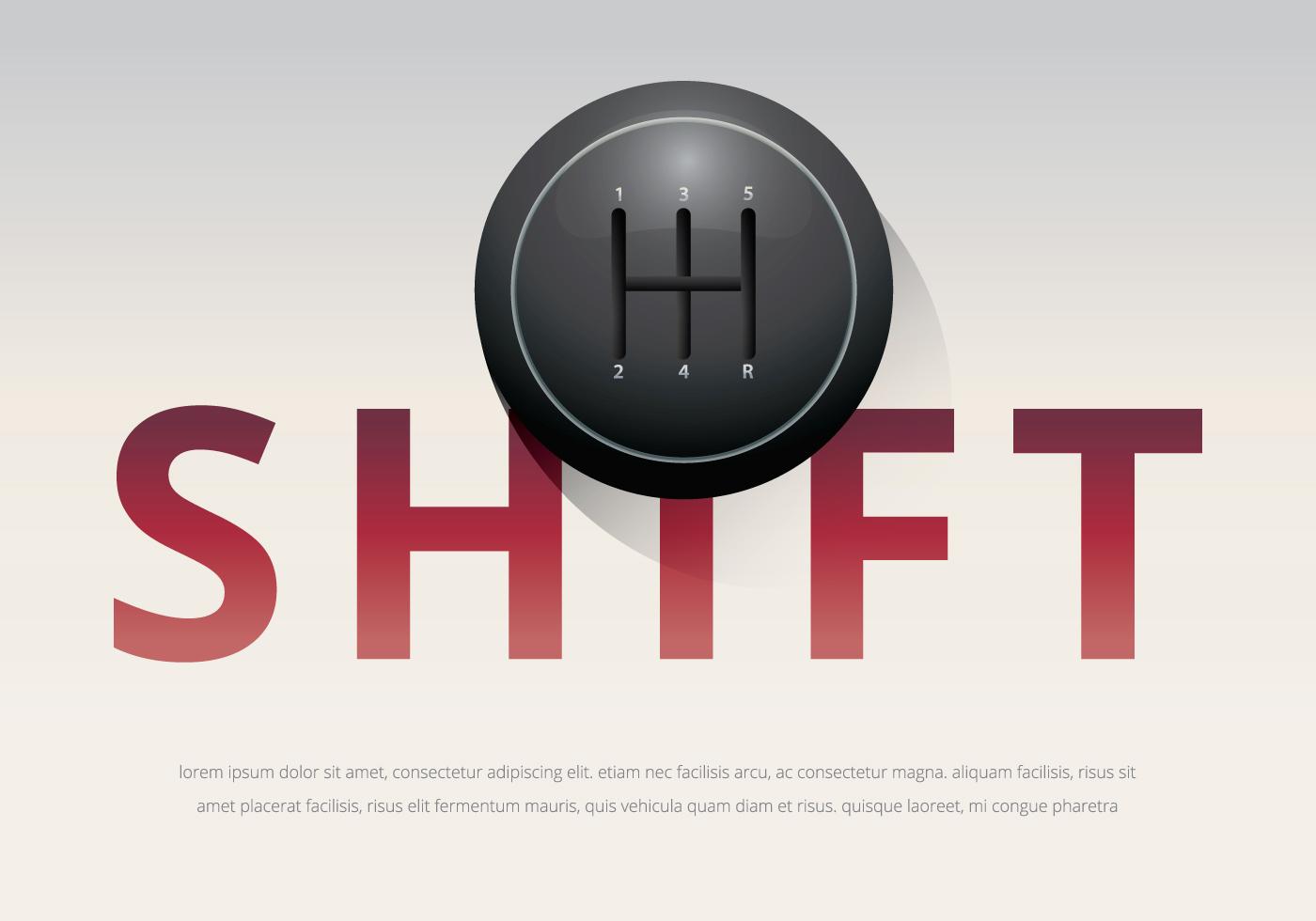 Gear Shift Knob Illustration Template Download Free