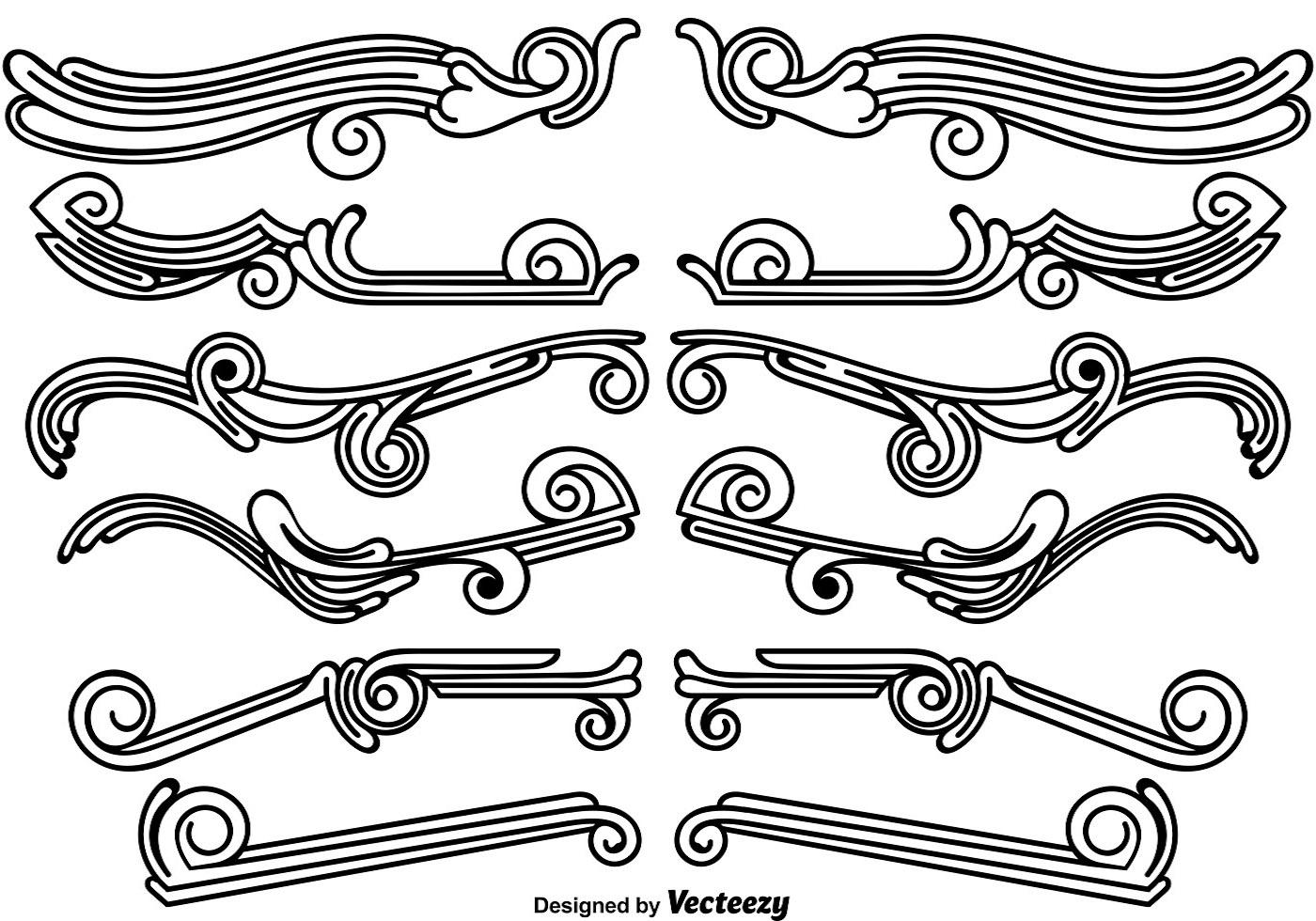 Set Of Vintage Ornamental Dividers