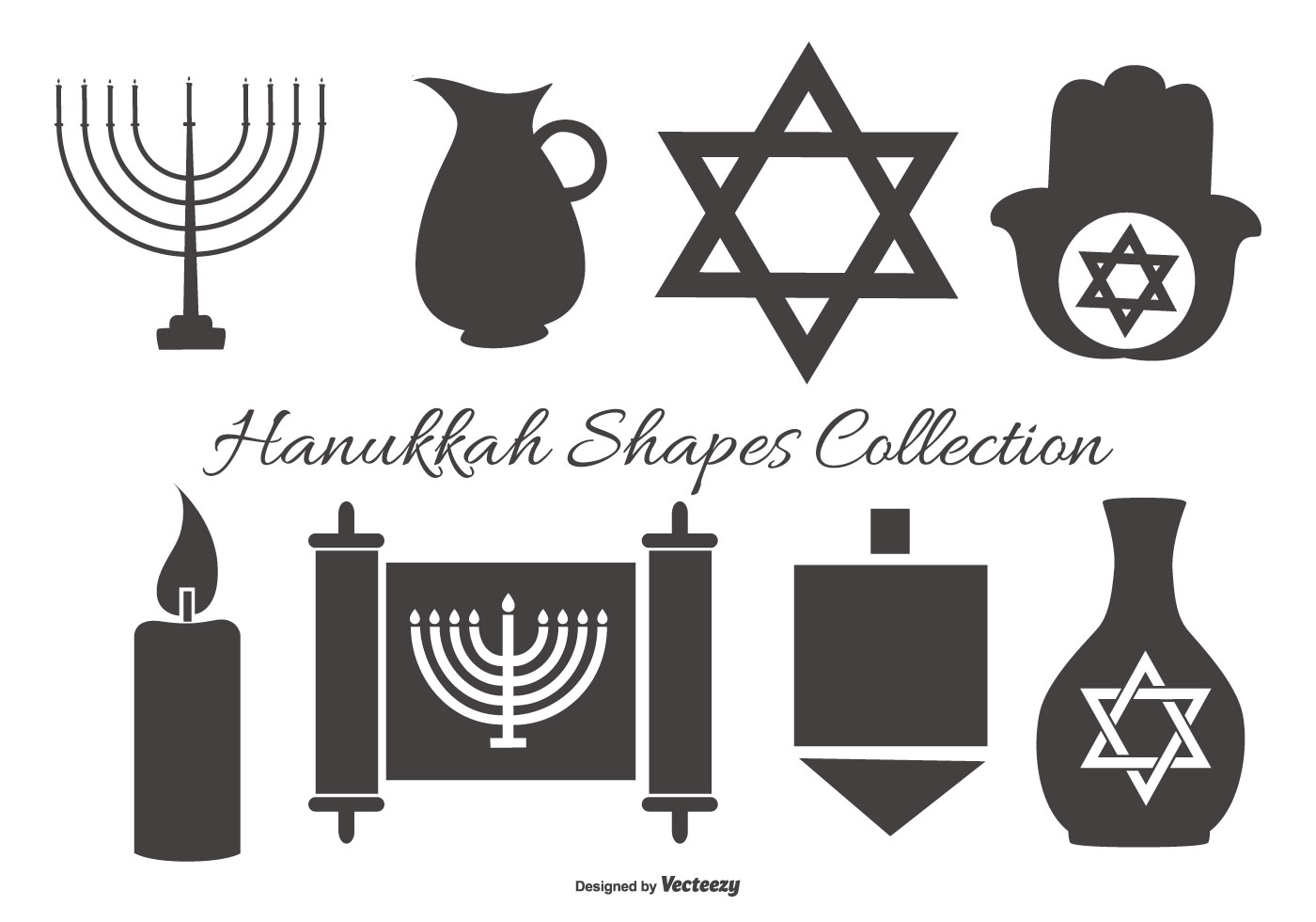 Hanukkah Vector Shapes Collection