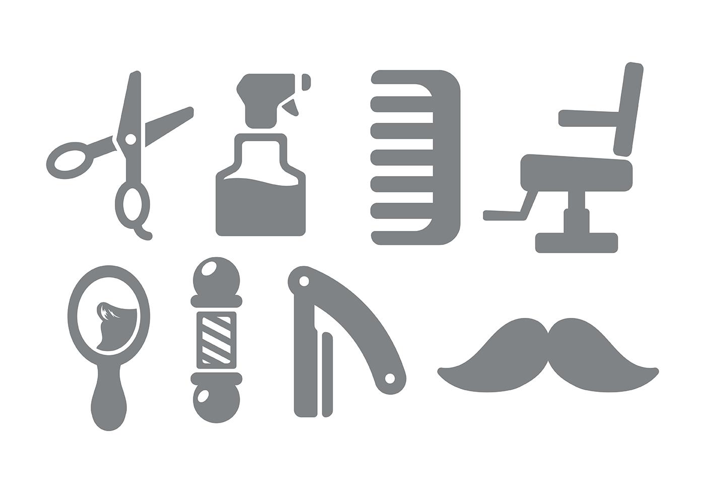 Barber Shop Icon Vector