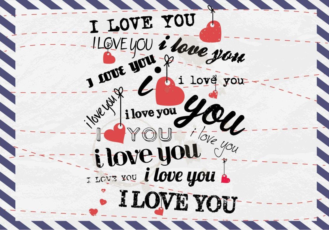Download I Love You Postcard Vector - Download Free Vectors ...