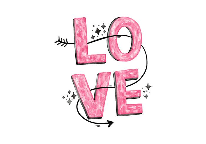 Download Pink Love Lettering - Download Free Vectors, Clipart ...