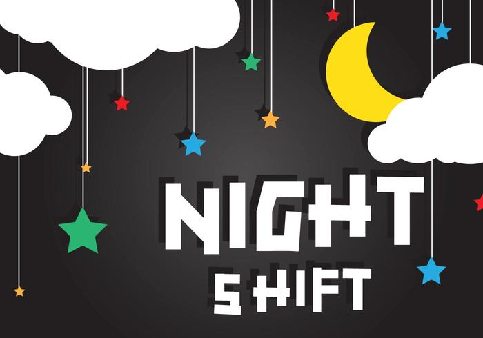 Night Shift Background Vector Download Free Vector Art
