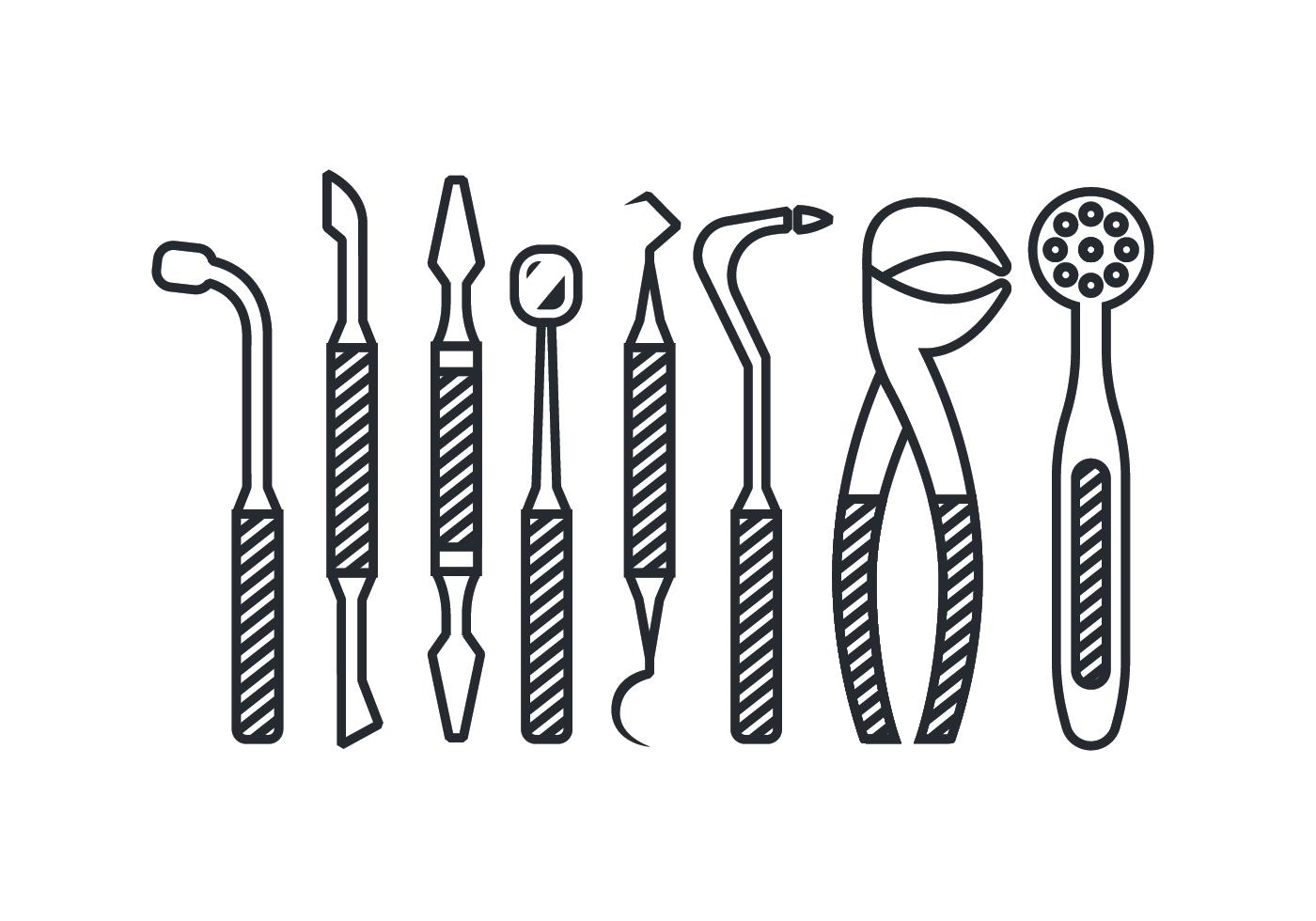 Dentist Tool Icon Vectors