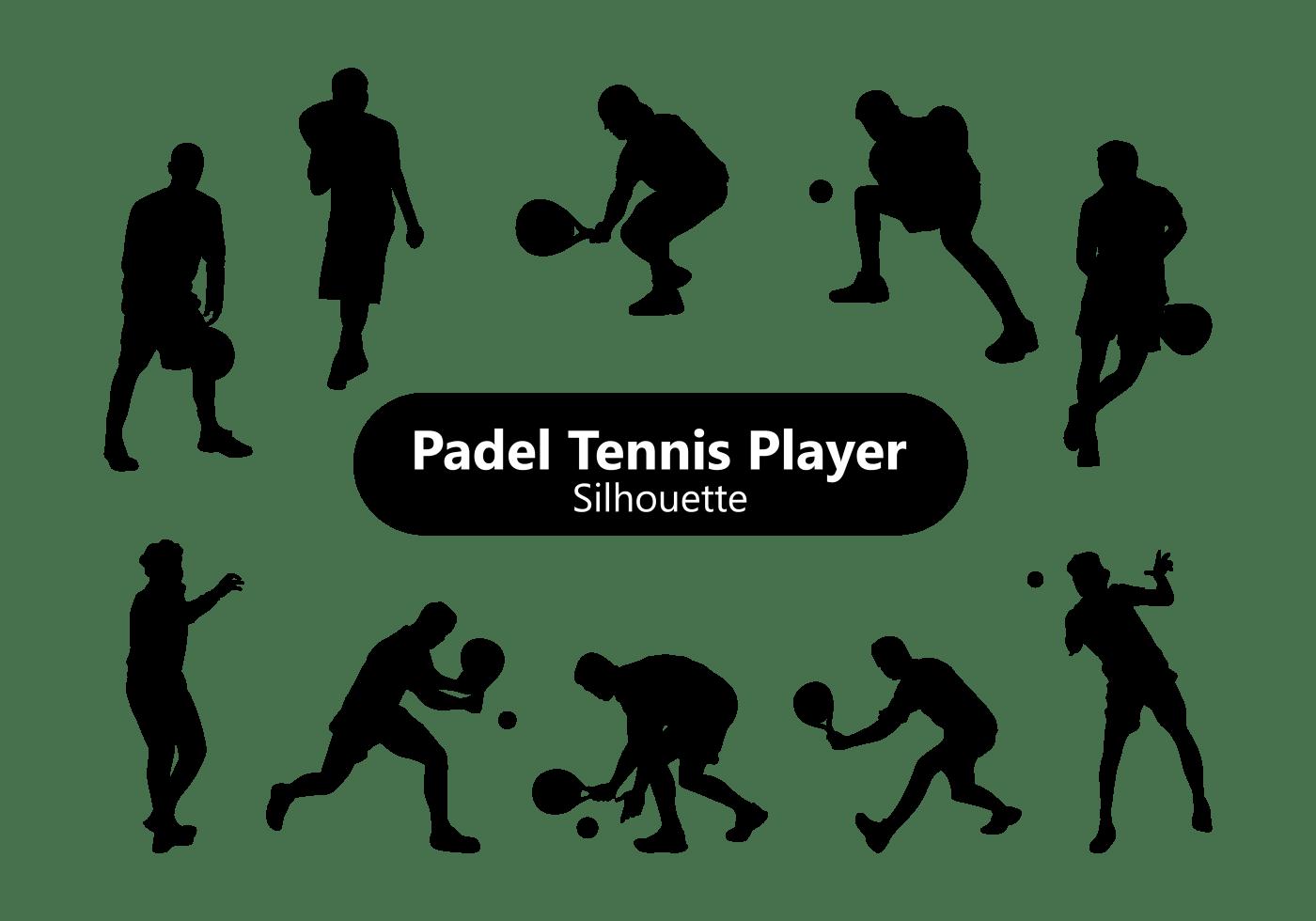 Padel Tennis Player Silhouette