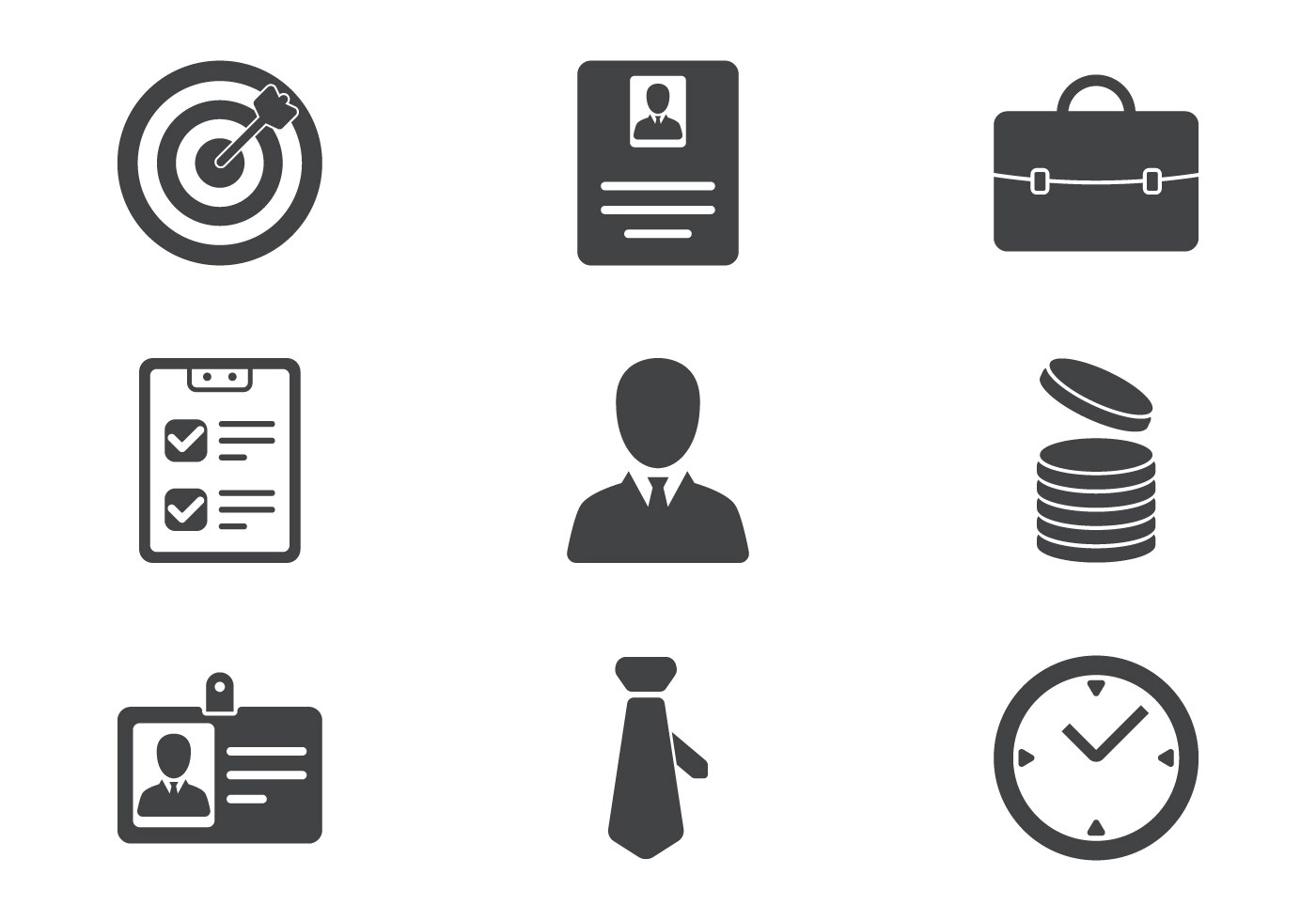 Resume Icon Free Vector Art