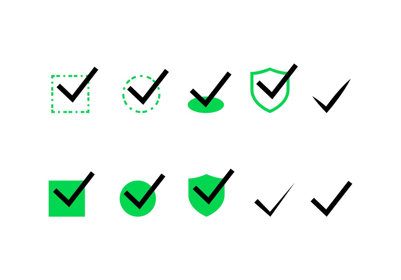 Check Mark Vector Set - Download Free Vectors, Clipart ... on ✔  id=87968