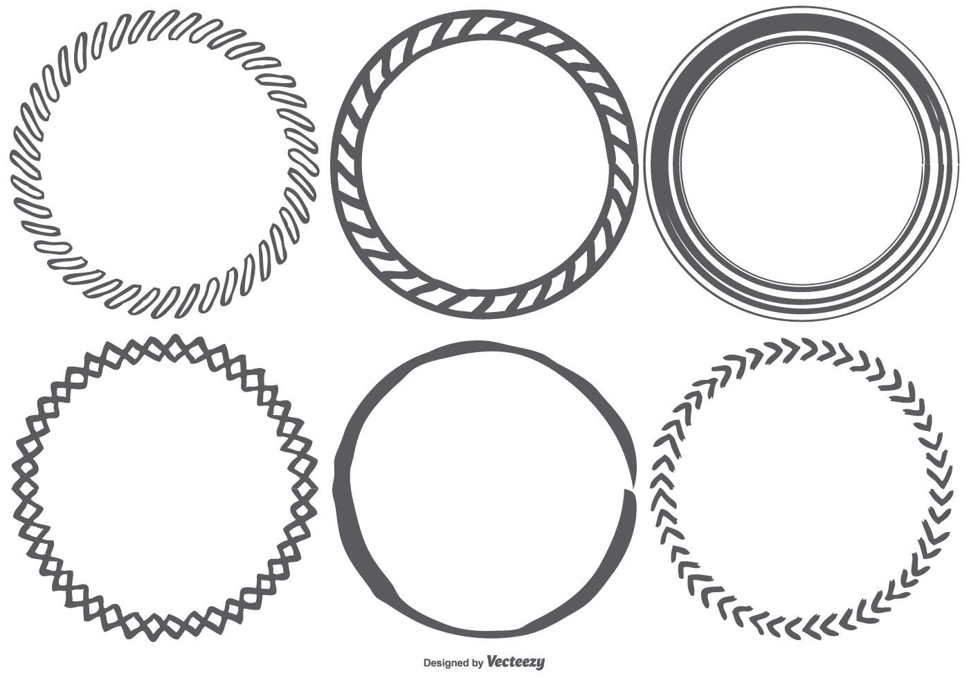Circle Free Vector Art
