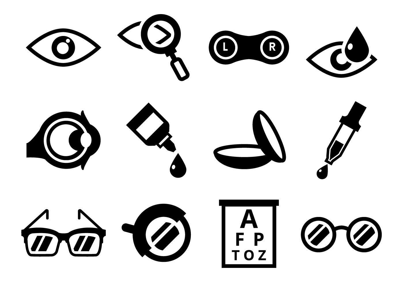 Free Vector Optometria Icons