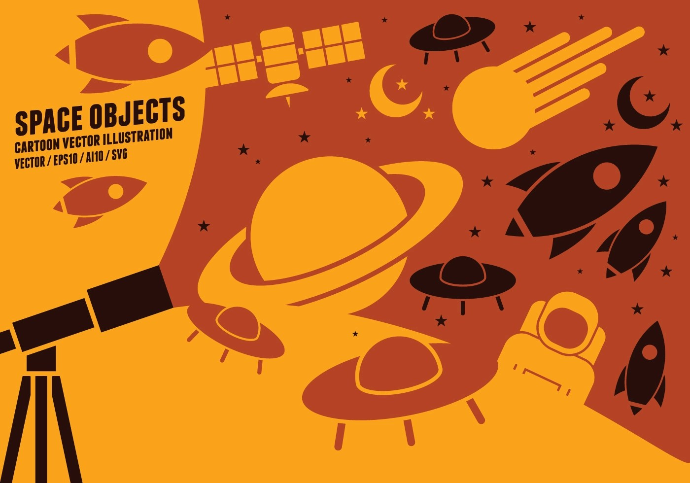 Space Object Icons Download Free Vectors Clipart