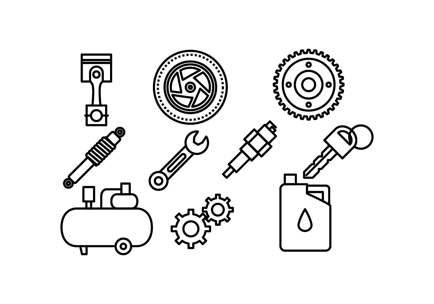Free Automotive Icon Vector Pack