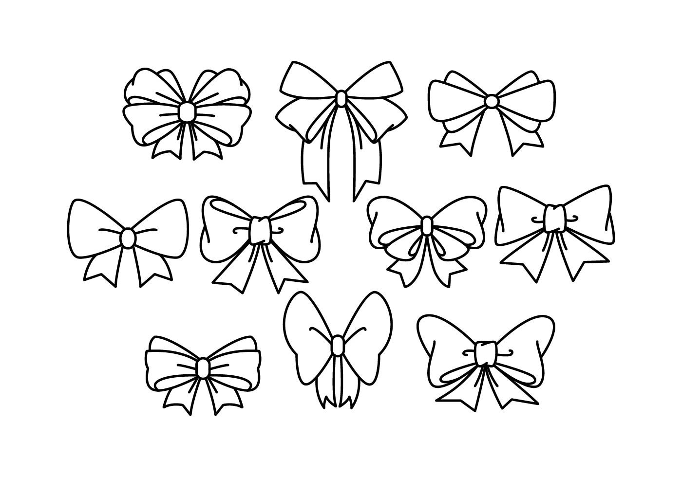 Hair Ribbon Vector