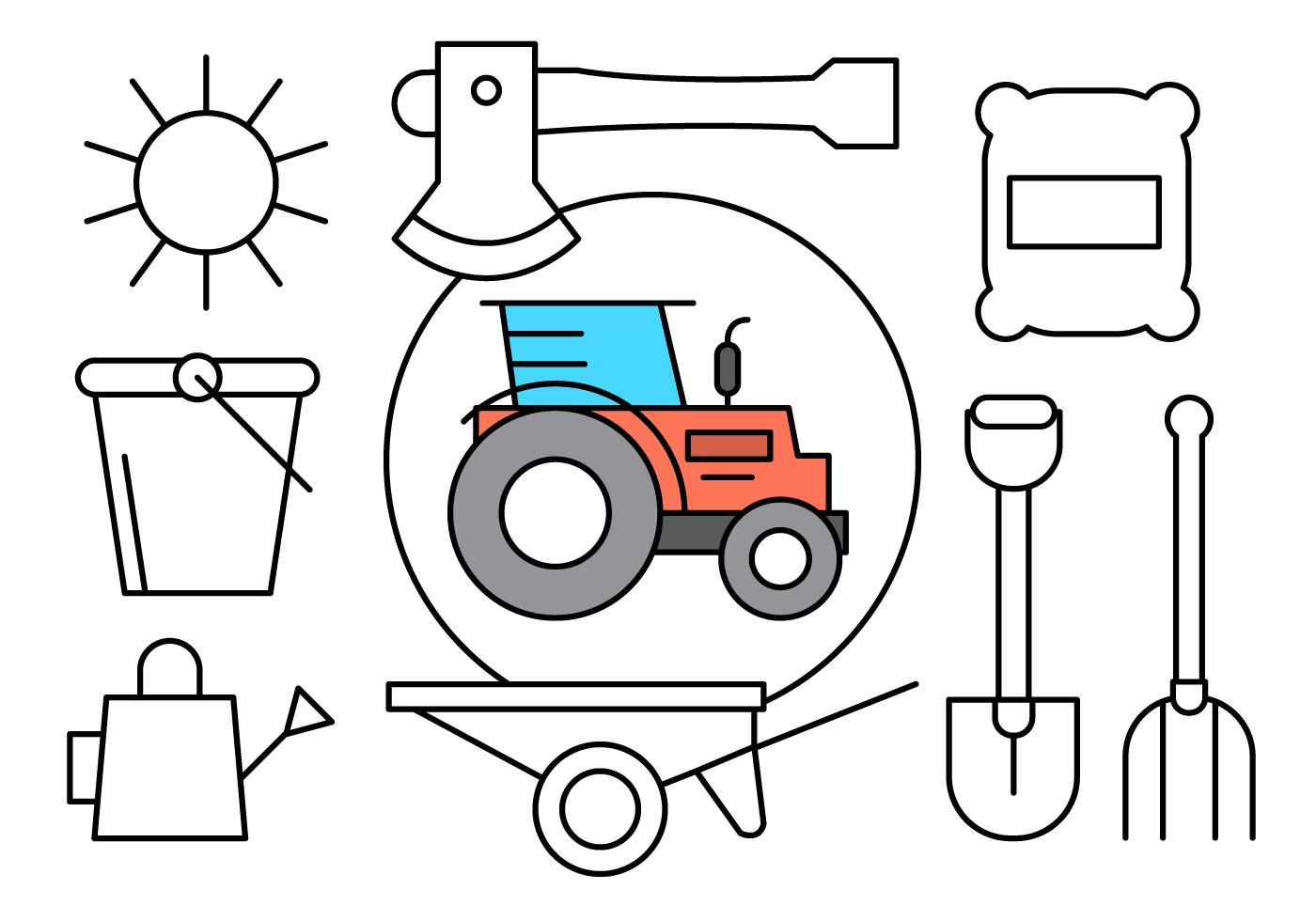 Free Linear Farming Icons