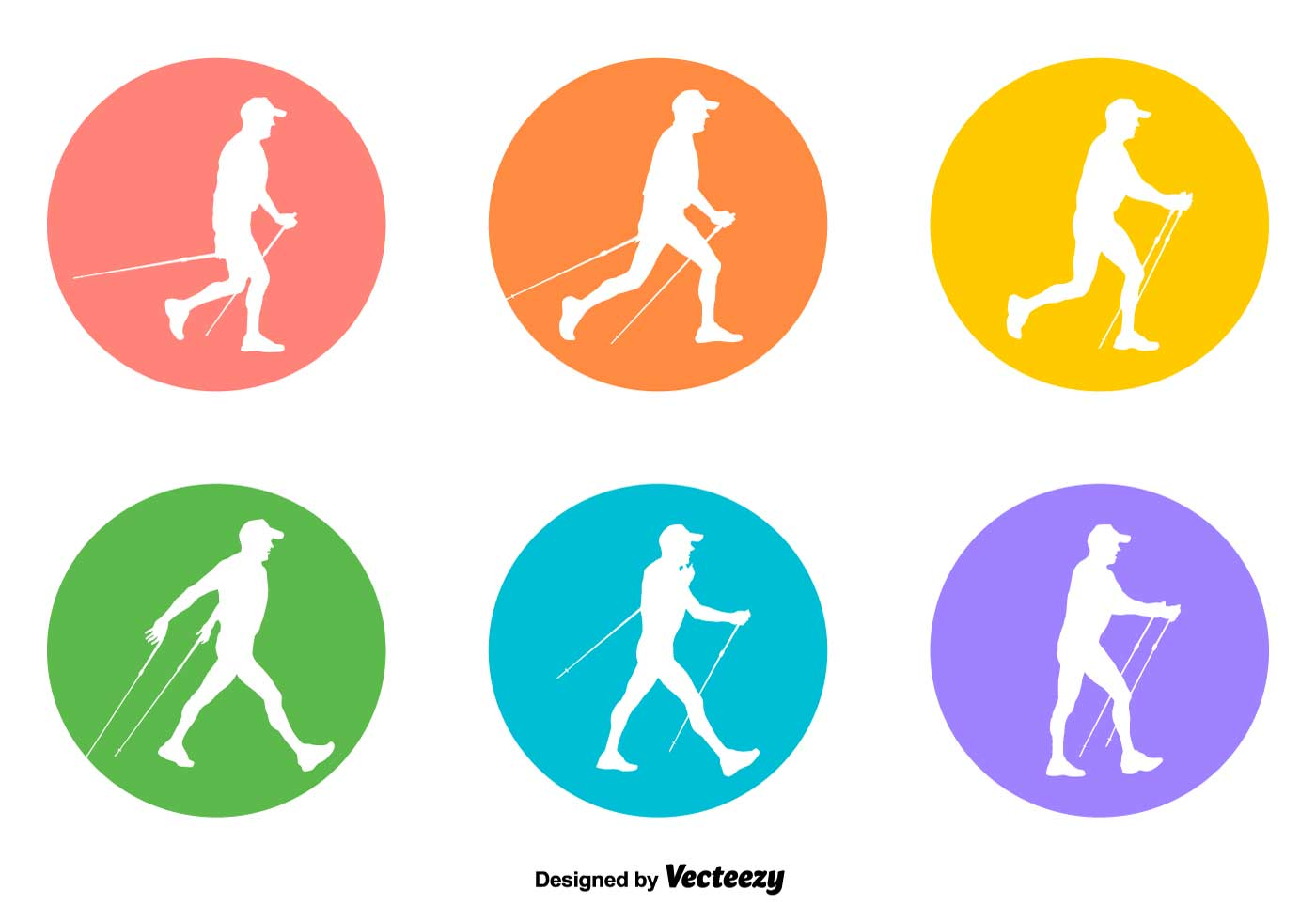 Vector Nordic Walking Signs
