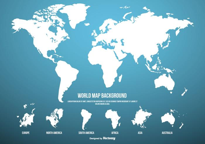 Blue World Map Background   Download Free Vector Art  Stock Graphics     Blue World Map Background