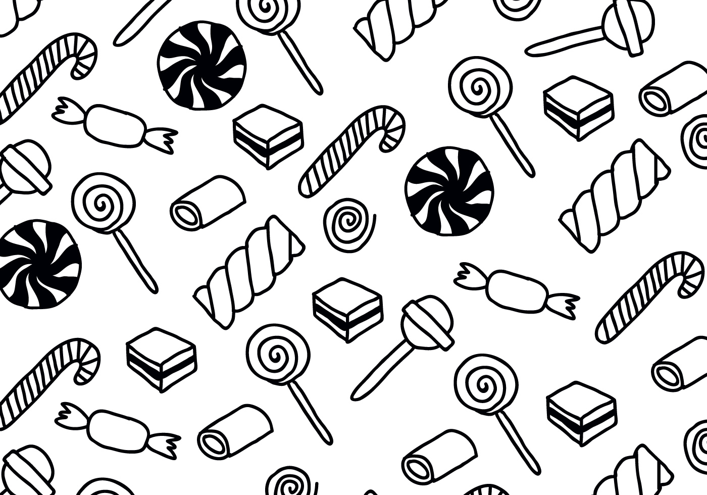 Black Amp White Candy Patterns