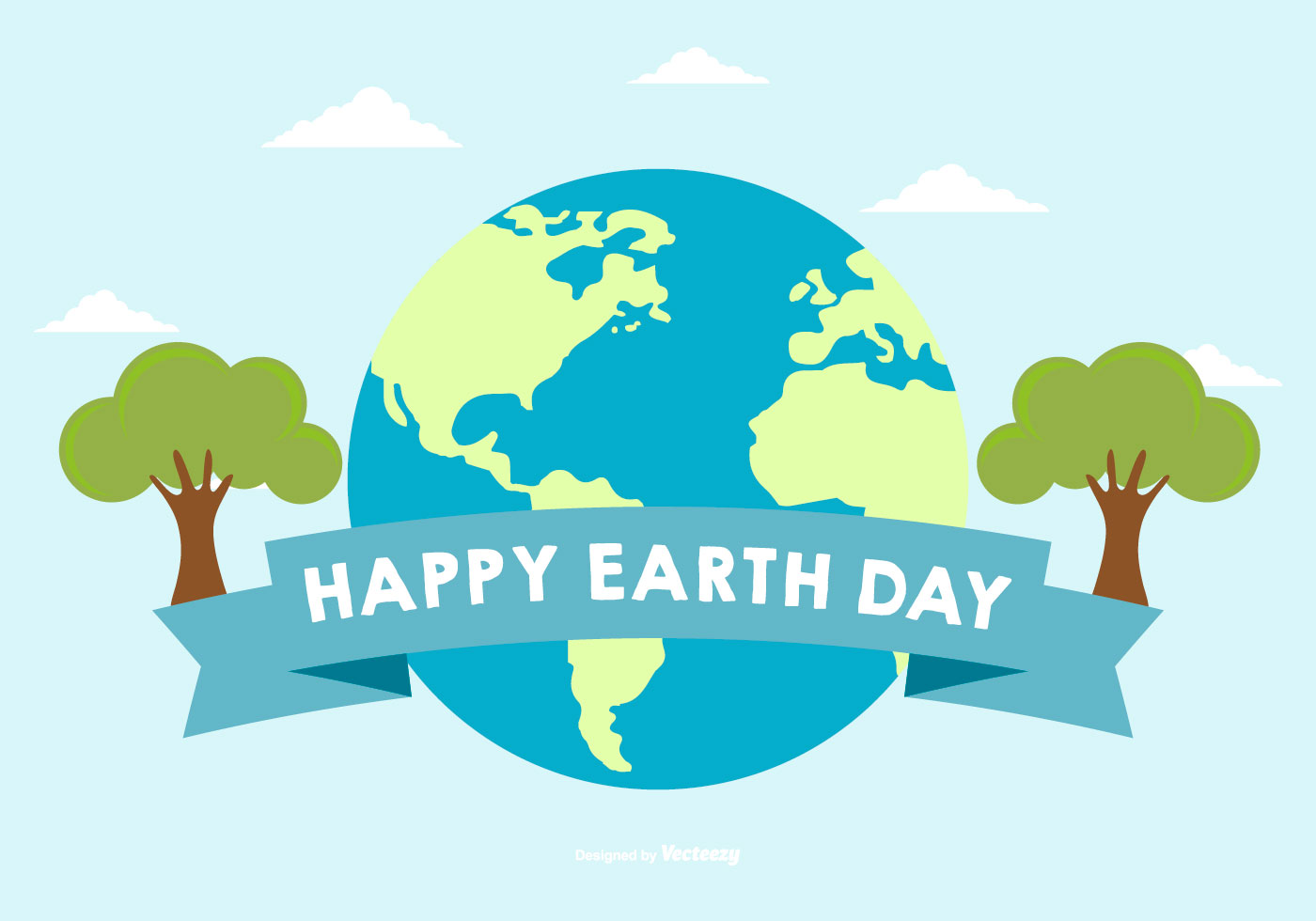 Happy Earth Day Illustration