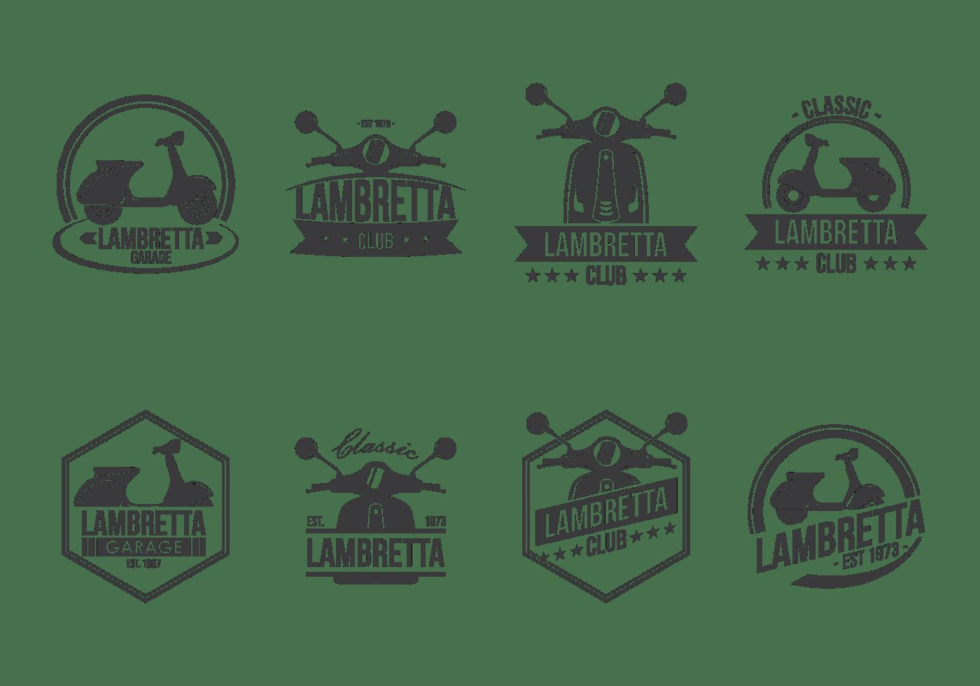 Lambretta Etiquetas Vector