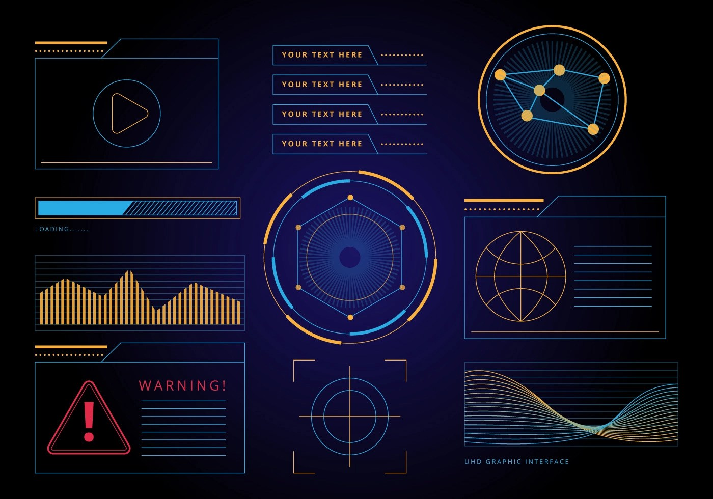 Free HUD Graphic Interface Vector Download Free Vector Art Stock Graphics Amp Images