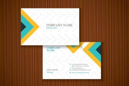 Business Card Free Vector Art    34526 Free Downloads  Free Colorful Stylish Business Card Template Design