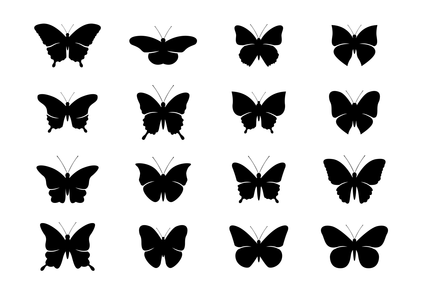 Mariposa Silhouettes Vector