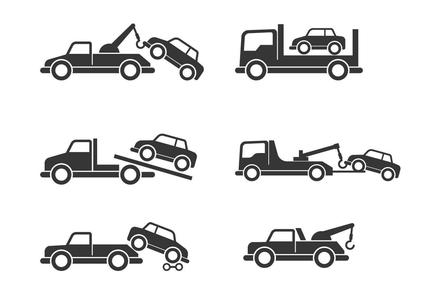 Towing Car Free Vector Art