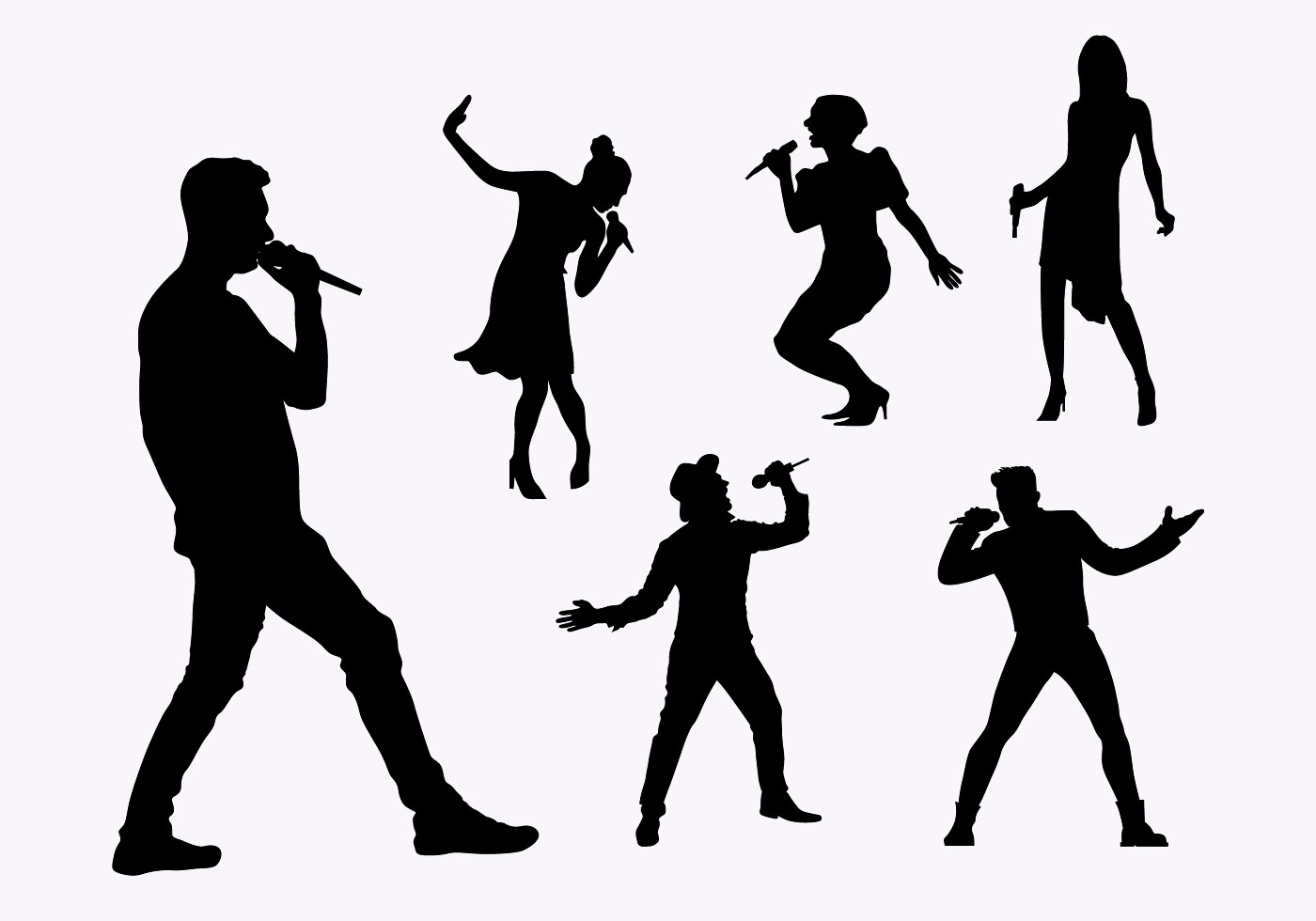 Flat Silhouette Singers