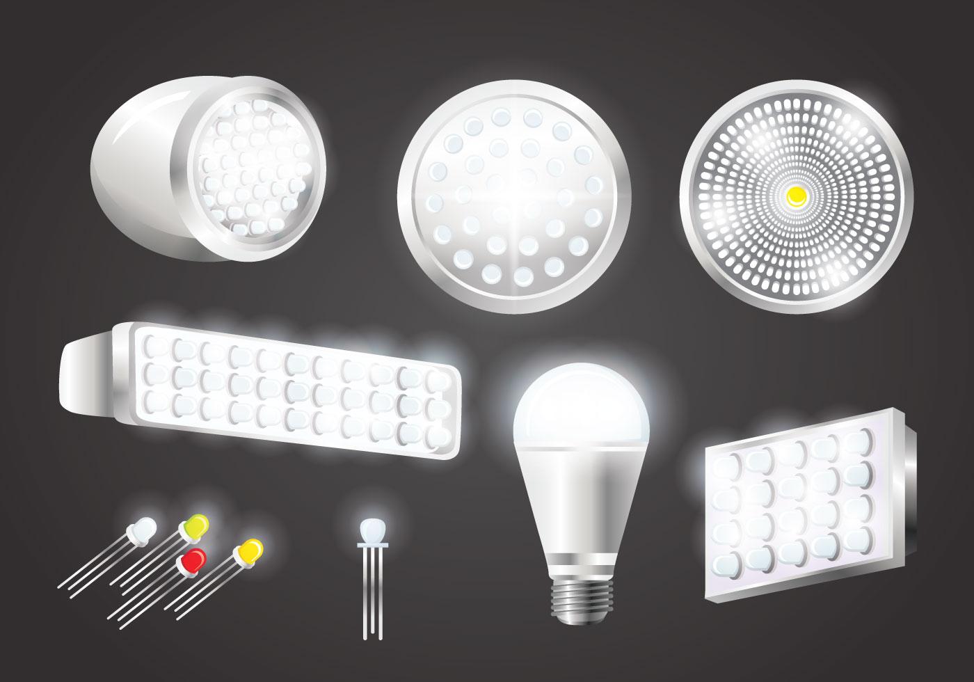 Realistic Led Lights Vectors Download Free Vectors