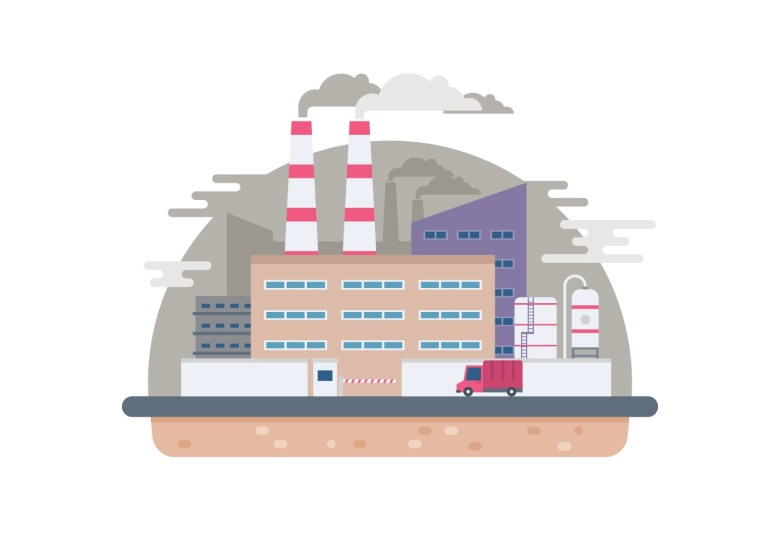 Industrial Factory Illustration - Download Free Vectors, Clipart ...